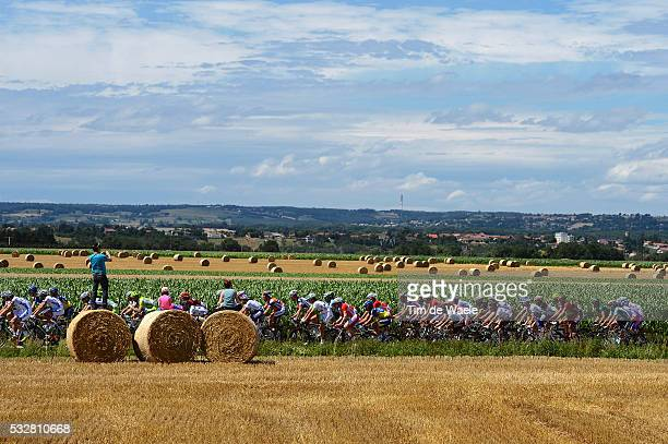 99th Tour de France 2012 / Stage 12 Illustration Illustratie / Peleton Peloton / Corn Fields Champ Veld / Landscape Paysage Landschap / Fans...