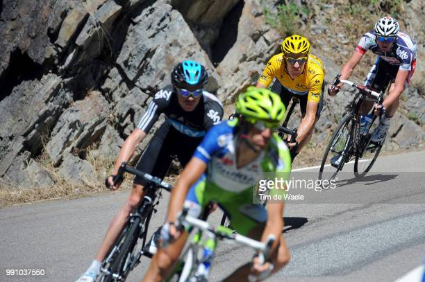 99Th Tour De France 2012, Stage 16Bradley Wiggins Yellow Jersey, Christopher Froome / Vincenzo Nibali / Jurgen Van Den Broeck / Pau -...