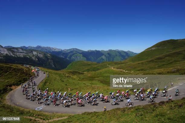 99Th Tour De France 2012, Stage 16Illustration Illustratie, Col D'Aubisque / Peleton Peloton, Mountains Montagnes Bergen, Landscape Paysage...