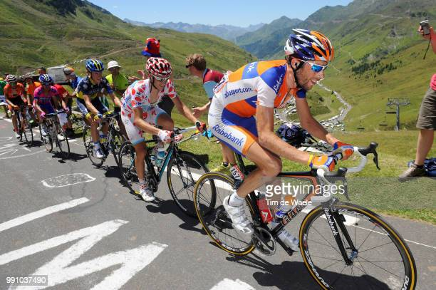 99Th Tour De France 2012, Stage 16Laurens Ten Dam / Fredrik Kessiakoff Mountain Jersey, Pau - Bagneres-De-Luchon / Ronde Van Frankrijk Tdf, Rit Stage...