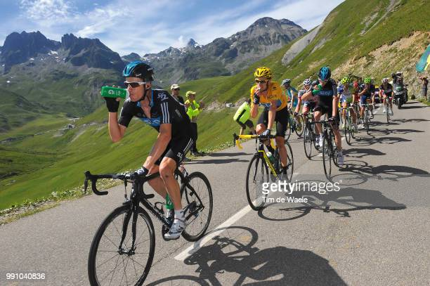 99Th Tour De France 2012 Stage 16Michael Rogers / Bradley Wiggins Yellow Jersey Christopher Froome / Team Sky / Ravitaillement Bevoorrading Mountains...