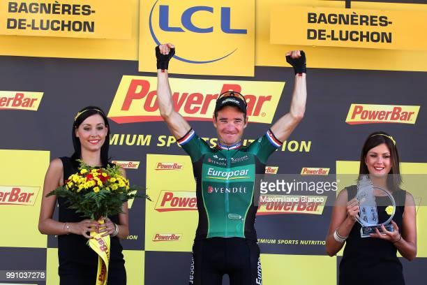 99Th Tour De France 2012, Stage 16Podium, Thomas Voeckler Celebration Joie Vreugde, Pau - Bagneres-De-Luchon / Ronde Van Frankrijk Tdf, Rit Stage...