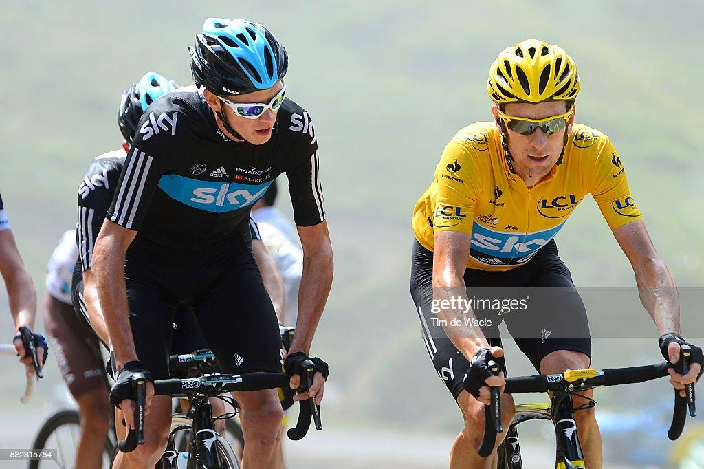 99th Tour de France 2012 / Stage 17 Christopher Froome (GBr)/ Bradley Wiggins (GBr) Yellow Jersey / Bagneres-de-Luchon - Peyragudes (143,5Km)/ Ronde van Frankrijk TDF / Rit Stage /(c)Tim De Waele