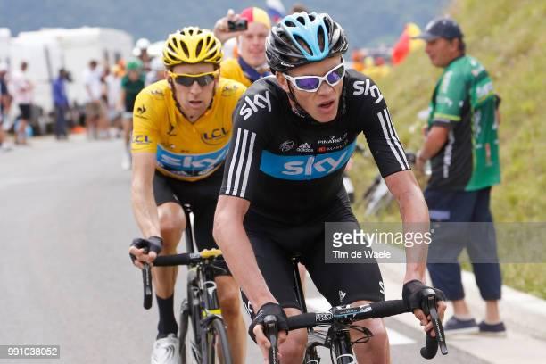 99Th Tour De France 2012, Stage 17 Christopher Froome / Bradley Wiggins Yellow Jersey, Bagneres-De-Luchon - Peyragudes / Ronde Van Frankrijk Tdf, Rit...
