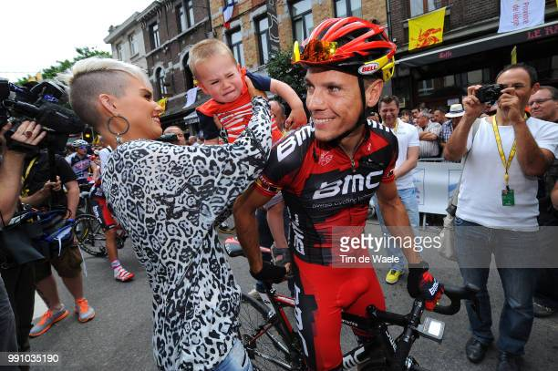 99Th Tour De France 2012, Stage 2 Philippe Gilbert + Alan + Patricia Zeevaert / Vise - Tournai / Ronde Van Frankrijk Tdf, Rit Stage /Tim De Waele