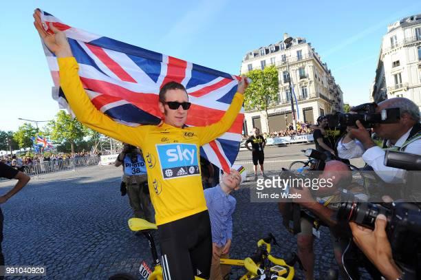 99Th Tour De France 2012, Stage 20 Bradley Wiggins Yellow Jersey Celebration Joie Vreugde, Rambouillet - Paris Champs-Elysees / Ronde Van Frankrijk...