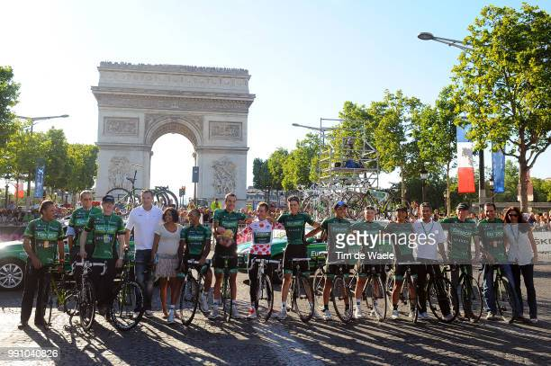 99Th Tour De France 2012 Stage 20 Team Europcar / Thomas Voeckler / Yukiya Arashiro / Giovanni Bernaudeau / Cyril Gautier / Yohann Gene / Vincent...