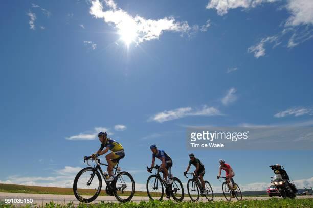 99Th Tour De France 2012 Stage 6 Illustration Illustratie Silhouet Karsten Kroon / Romain Zingle / David Zabriskie / Davide Malacarne / Peleton...