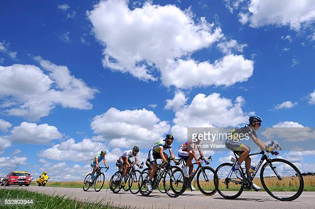99th Tour de France 2012 / Stage 7 Chris Anker Sorensen / Christophe Riblon / Cyril Gautier / Luis Leon Sanchez Gil / Dmitriy Fofonov / Michael...