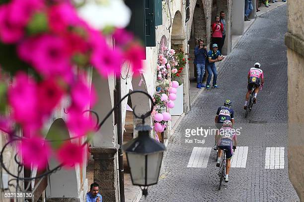 99th Tour of Italy 2016 / Stage 11 Bob JUNGELS Pink Leader Jersey / Andrey AMADOR / Diego ULISSI / Illustration / Asolo City / Landscape / Modena...