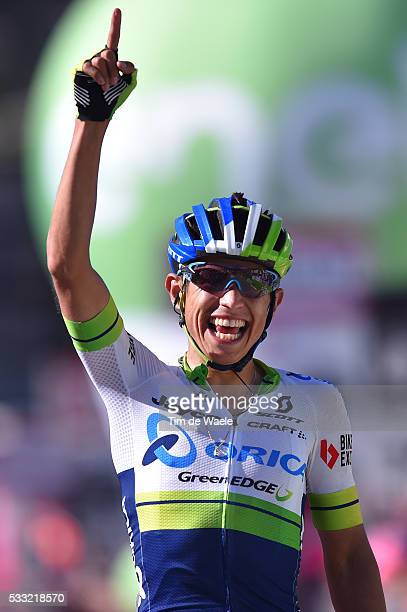 99th Tour of Italy 2016 / Stage 14 Arrival / Johan Esteban CHAVES RUBIO Celebration / Alpago Corvara 1528m / Giro /