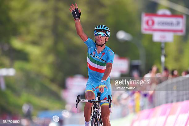 99th Tour of Italy 2016 / Stage 19 Arrival / Vincenzo NIBALI / Celebration / Pinerolo - Risoul 1862m / Giro /