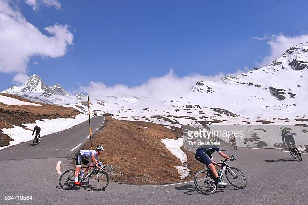 99th Tour of Italy 2016 / Stage 19 Bob JUNGELS Best White Young Jersey / Rory SUTHERLAND / Illustration / Colle Dell 'Agnello Mountains / Snow /...