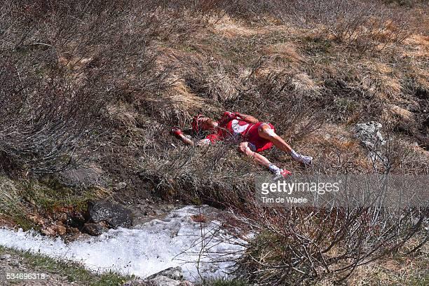 99th Tour of Italy 2016 / Stage 19 Illustration / Ilnur ZAKARIN / Crash / Pinerolo - Risoul 1862m / Giro /