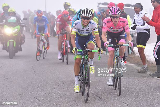 99th Tour of Italy 2016 / Stage 19 Johan Esteban CHAVES / Steven KRUIJSWIJK Pink Leader Jersey / Colle Dell'Agnello 2744m / Pinerolo - Risoul 1862m /...
