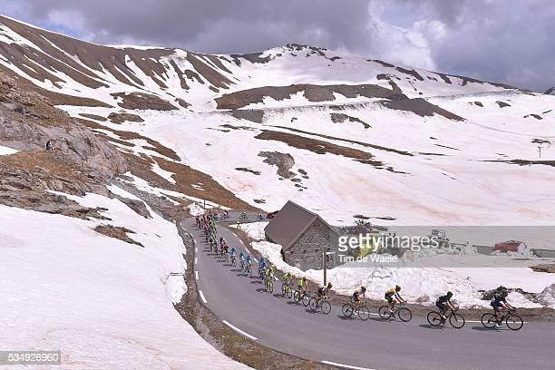 99th Tour of Italy 2016 / Stage 20 Illustration / Landscape / Peloton / Mountains / Snow / Col De La Bonette 2715m / Guillestre Sant'Anna di Vinadio...