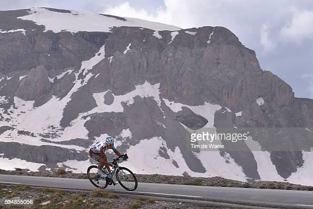 99th Tour of Italy 2016 / Stage 20 Illustration / Landscape / Snow / Mountains / Col De La Bonette / Guillaume BONNAFOND / Guillestre Sant'Anna di...