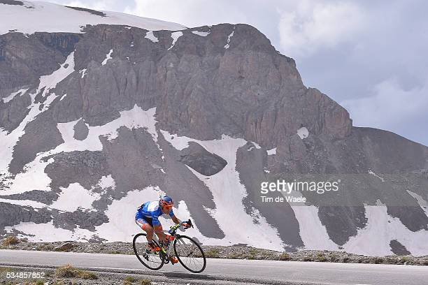 99th Tour of Italy 2016 / Stage 20 Illustration / Landscape / Snow / Mountains / Col De La Bonette / Damiano CUNEGO Blue Mountain Jersey / Guillestre...
