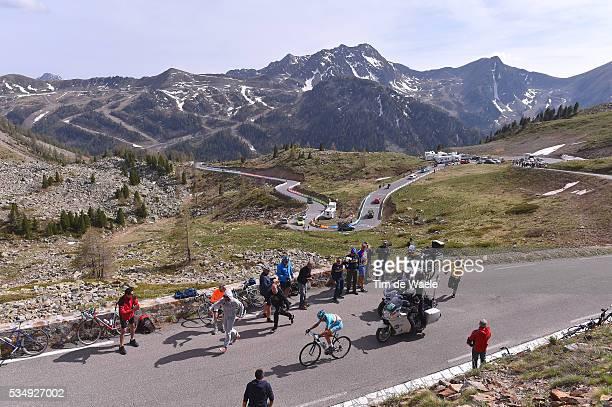 99th Tour of Italy 2016 / Stage 20 Illustration / Landscape / Mountains / Snow / Vincenzo NIBALI / Fans / Public / Col De La Bonette 2715m /...