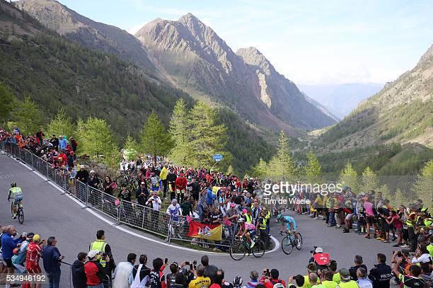 99th Tour of Italy 2016 / Stage 20 Johan Esteban CHAVES RUBIO Pink Leader Jersey / Michele SCARPONI / Sant'Anna Di Vinadio Mountains / Landscape /...