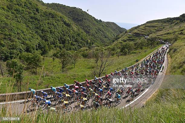 99th Tour of Italy 2016 / Stage 4 Illustration / Peloton / Mountain Landscape / BONIFATI 409m/ Catanzaro Praia a Mare / Giro /