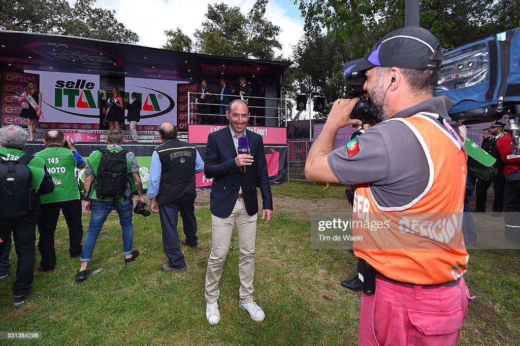 99th Tour of Italy 2016 / Stage 8 Jerome PINAUT (FRA) Tv Presantator Journalist / Foligno - Arezzo (186km)/ Giro /
