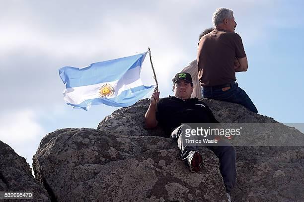 9th Tour de San Luis 2015 / Stage 4 Illustration Illustratie / Fans Supporters / Argentina Flag Drapeau Vlag / Villa Dolores Alto De El Amago 1710m /...