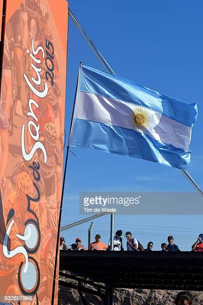 9th Tour de San Luis 2015 / Stage 5 Illustration Illustratie / Argentina Flag Drapeau Vlag / San Luis San Luis / Time Trial Contre la Montre Tijdrit...