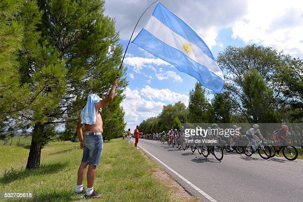 9th Tour de San Luis 2015 / Stage 7 Illustration Illustratie / Peleton Peloton / Argentinië Flag Drapeau Vlag / Landscape Paysage Landschap / Michal...