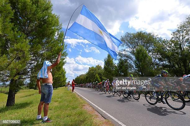 9th Tour de San Luis 2015 / Stage 7 Illustration Illustratie / Peleton Peloton / Argentinië Flag Drapeau Vlag / Landscape Paysage Landschap / nairo...