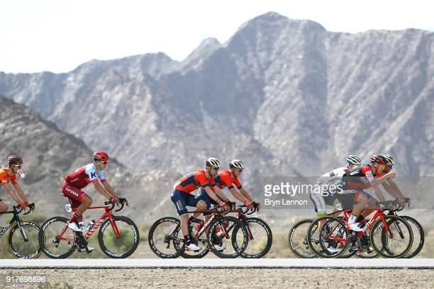 9th Tour of Oman 2018 / Stage 1 Alberto Bettiol of Italy / Viacheslav Kuznetsov of Russia / Nizwa Sultan Qaboos University / Oman Tour /