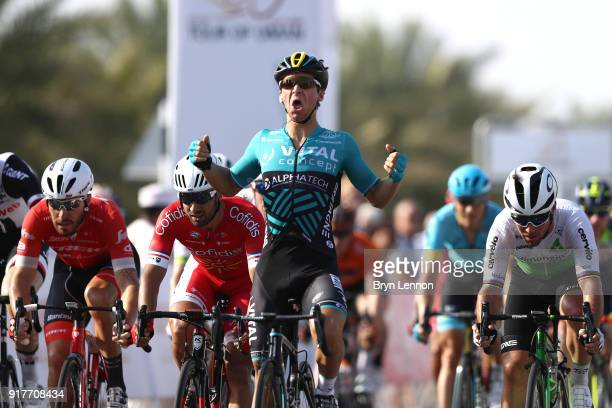 9th Tour of Oman 2018 / Stage 1 Arrival / Bryan Coquard of France Celebration / Mark Cavendish of Great Britain / Giacomo Nizzolo of Italy / Nacer...
