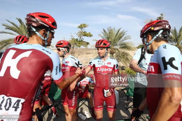 9th Tour of Oman 2018 / Stage 1 Arrival / Nils Politt of Germany / Reto Hollenstein of Switzerland / Nathan Haas of Australia / Baptiste Planckaert...