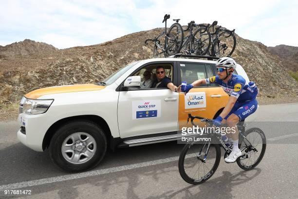 9th Tour of Oman 2018 / Stage 1 Dries Devenyns of Belgium / Team QuickStep Floors / Car / Feed Zone / Nizwa Sultan Qaboos University / Oman Tour /