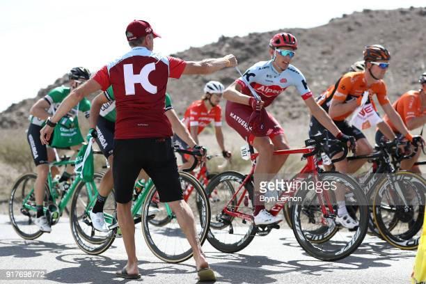 9th Tour of Oman 2018 / Stage 1 Nils Politt of Germany / Team Katusha Alpecin / Feed Zone / Nizwa Sultan Qaboos University / Oman Tour /