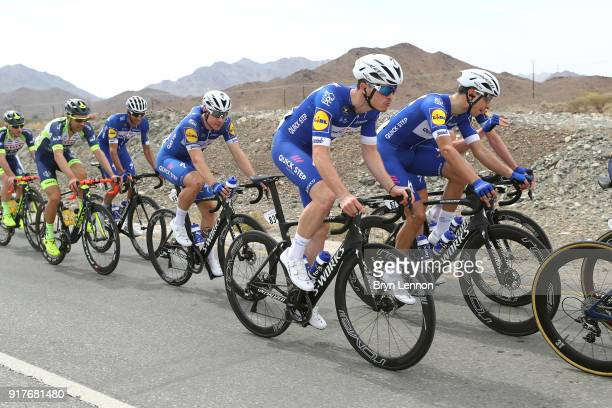 9th Tour of Oman 2018 / Stage 1 Remi Cavagna of France / Davide Martinelli of Italy / Fabio Jakobsen of The Netherlands / Team QuickStep Floors /...
