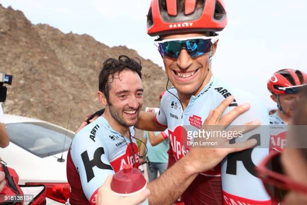 9th Tour of Oman 2018 / Stage 2 Arrival / Nathan Haas of Australia / Nils Politt of Germany / Celebration / Team Team Katusha Alpecin / Sultan Qaboos...
