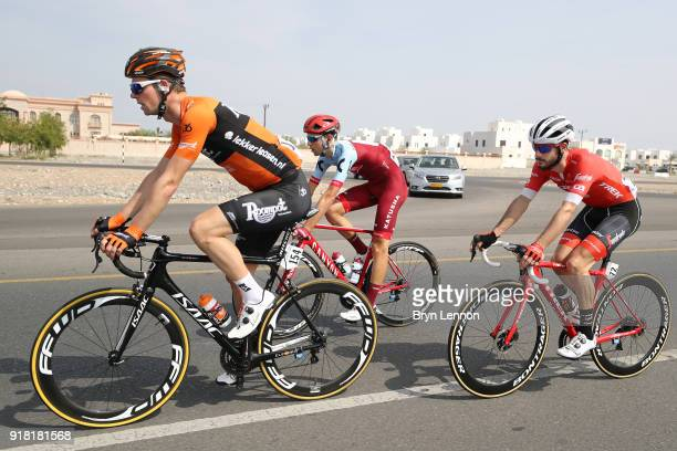 9th Tour of Oman 2018 / Stage 2 Elmar Reinders of The Netherlands / Julien Bernard of France / Steff Cras of Belgium / Sultan Qaboos University Al...