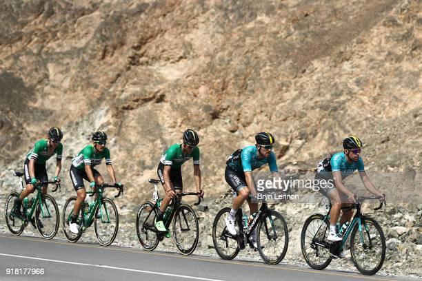 9th Tour of Oman 2018 / Stage 2 Johan Le Bon of France / Julien Morice of France / Yannis Yssard of France / Sultan Qaboos University Al Bustan /...