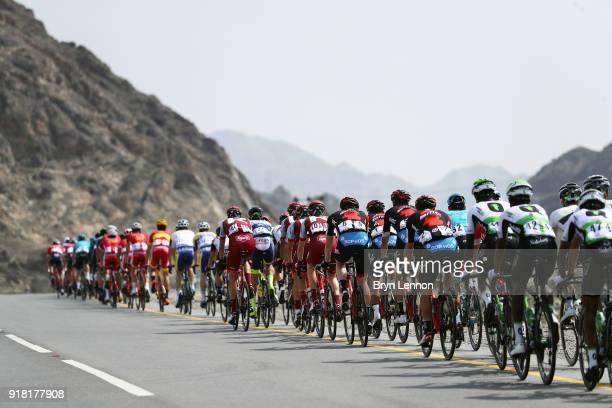 9th Tour of Oman 2018 / Stage 2 Peloton / BMC Racing Team of The United States / Landscape / Sultan Qaboos University Al Bustan / Oman Tour /