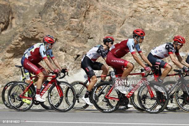 9th Tour of Oman 2018 / Stage 2 Reto Hollenstein of Switzerland / Nathan Haas of Australia / Sultan Qaboos University Al Bustan / Oman Tour /