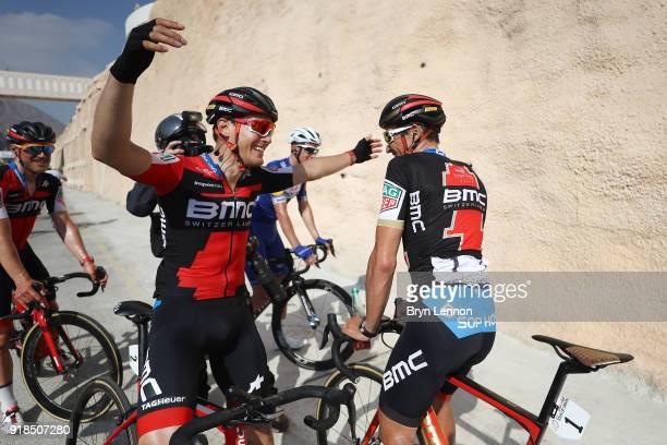 9th Tour of Oman 2018 / Stage 3 Arrival / Greg Van Avermaet of Belgium / Alberto Bettiol of Italy / Celebration / German University of Technology...