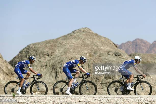 9th Tour of Oman 2018 / Stage 3 Fabio Jakobsen of The Netherlands / Remi Cavagna of France / Eros Capecchi of Italy / German University of Technology...