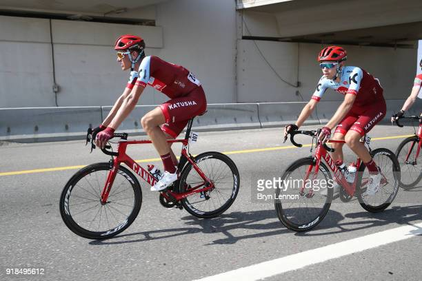 9th Tour of Oman 2018 / Stage 3 Nils Politt of Germany / Steff Cras of Belgium / German University of Technology Wadi Dayqah Dam/ Oman Tour /
