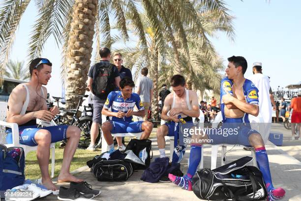 9th Tour of Oman 2018 / Stage 3 Start / Eros Capecchi of Italy / Remi Cavagna of France / Dries Devenyns of Belgium / Fabio Jakobsen of The...