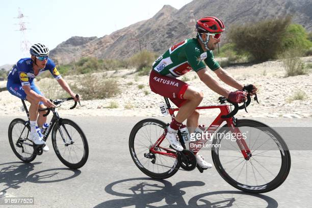 9th Tour of Oman 2018 / Stage 4 Nathan Haas of Australia Green Sprint Jersey / Tim Declercq of Belgium / YitiAl Sifah Ministry of Tourism / Oman Tour...