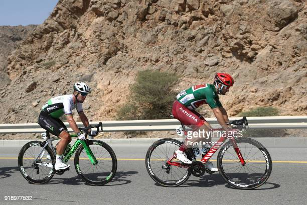 9th Tour of Oman 2018 / Stage 4 Nathan Haas of Australia Green Sprint Jersey / Mark Cavendish of Great Britain / YitiAl Sifah Ministry of Tourism /...