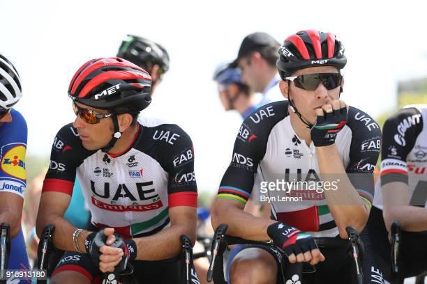 9th Tour of Oman 2018 / Stage 4 Start / Marco Marcato of Italy / Rui Faria Da Costa of Portugal / Yiti-Al Sifah - Ministry of Tourism / Oman Tour /