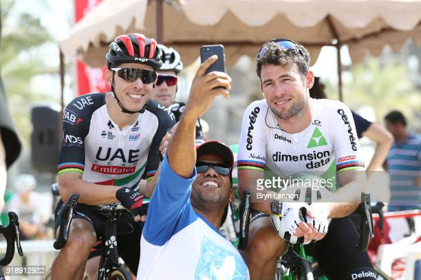 9th Tour of Oman 2018 / Stage 4 Start / Rui Faria Da Costa of Portugal / Mark Cavendish of Great Britain / Fans / Selfie / YitiAl Sifah Ministry of...
