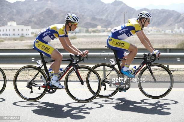 9th Tour of Oman 2018 / Stage 5 Aime De Gendt of Belgium / Kenneth Van Rooy of Belgium / Samail Jabal Al AkhdharGreen Mountain 1235m / Oman Tour /